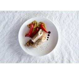 Рулеты из индейки с гриль овощами